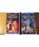 2 Walt Disney Video Lady and the Tramp & Lady Tramp II Scamp's Adventure... - $24.68