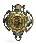 Steampunk Wall Clock Science Fiction Figurine Decor Clockwork Gear Display - $85.50