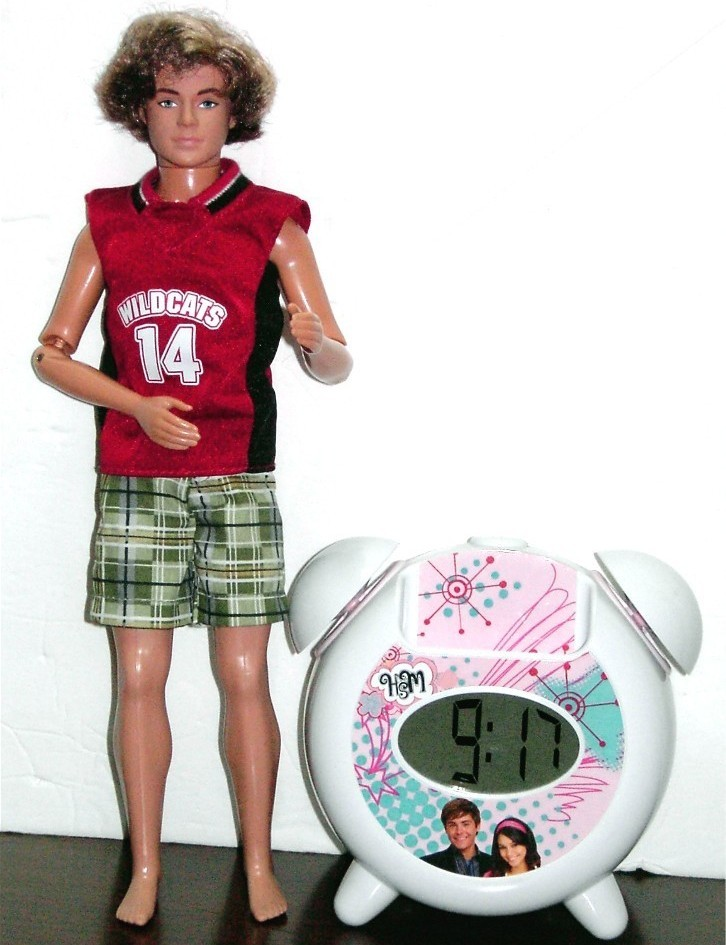 Primary image for High School Musical Zack Doll & Alarm Clock /w mp3 speaker jack