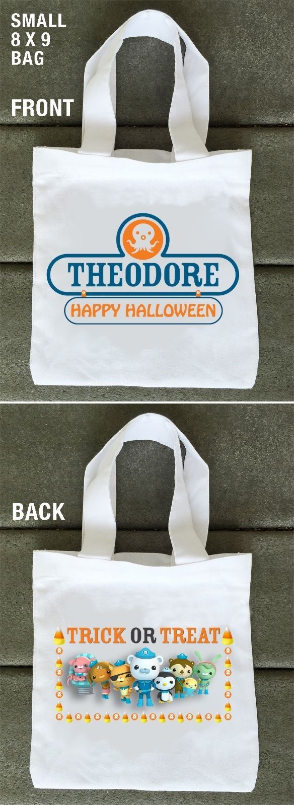 Octonauts Halloween Trick or Treat Bags | Personalized and Double Sided