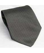 Alfani Gray with White Polka Dots Men's Necktie Tie Italy 100% Silk Clas... - $10.93