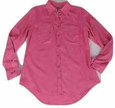 New Nexx New York Silk Blouse Top Small Pink - $16.23