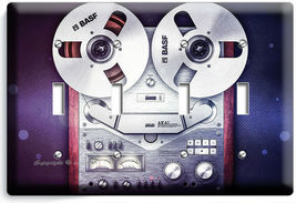 VINTAGE REEL TO REEL RECORDER PLAYER LIGHTSWITCH OUTLET PLATE MUSIC STUDIO DECOR image 14
