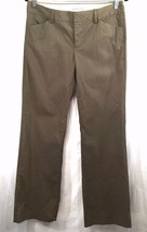 Gap Stretch Casual Dress Pants Size 6 Brown Ribbed Wide Leg 4 Pockets - $19.79