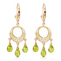 3.75 CTW 14K Solid Gold Funfare Peridot Earrings - $259.47