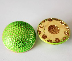 Oversized Round Candy Stud Earrings for Women(Green) - $7.99