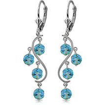 4.95 Carat 14K Solid Gold Spring Year Round Blue Topaz Earrings - $322.79