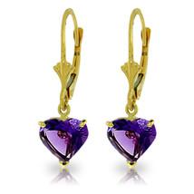 3.25 Carat 14K Solid Gold Kindheart Amethyst Earrings - $173.14