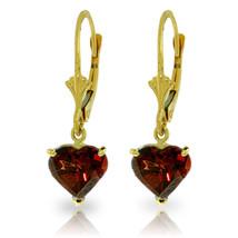 3.05 Carat 14K Solid Gold Cupid Garnet Earrings - $175.37