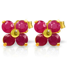 1.15 Carat 14K Solid Gold We Are Serious Ruby Earrings - $129.25