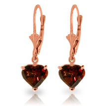 3.05 Carat 14K Solid Rose Gold Garnet Fire Earrings - $182.21