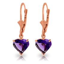 3.25 Carat 14K Solid Rose Gold Amethyst Fire Earrings - $179.98