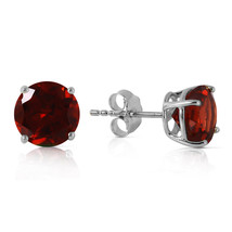 3.1 Carat 14K Solid White Gold Entre Nous Garnet Earrings - $146.95