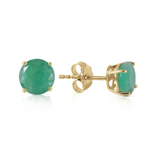 0.95 CTW 14K Solid Gold Spring Doesn't Fade Emerald Earrings - $130.47