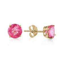 1.3 Carat 14K Solid Gold Pink In June Pink Topaz Earrings - $104.10