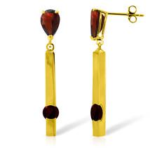 4.25 Carat 14K Solid Gold Chandelier Earrings Garnet - $323.31