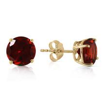 3.1 Carat 14K Solid Gold Dream Your Heart Garnet Earrings - $142.68