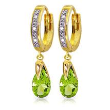 2.53 CTW 14K Solid Gold Marseille Peridot Diamond Earrings - $345.02