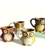 LOULONG® Britain Vintage Style 3D Owl Magic Mug Colour Ceramic Glaze Hog... - $31.79