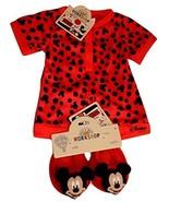 Build a Bear Mickey Mouse Polka Dot Sleeper Matching Slippers 2 pc. Tedd... - $44.95