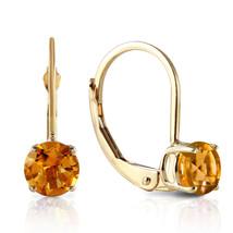 1.2 Carat 14K Solid Gold Iris Citrine Earrings - $136.72