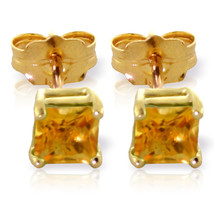 0.7 CTW 14K Solid Gold Love Lives For Seconds Citrine Earrings - $105.93