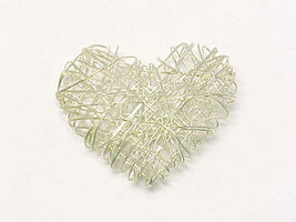 Designer HEART Pendant in STERLING Silver - made in ITALY - Large and Un... - $75.00