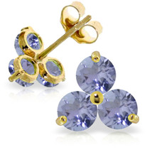 1.5 Carat 14K Solid Gold Never Said Otherwise Tanzanite Earrings - $150.56