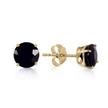 1 CTW 14K Solid Gold Stud Earrings 1.0 Carat Natural Black Diamond - $266.17