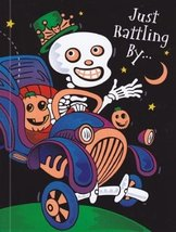 "Greeting Card Halloween ""Just Rattling by..."" - $1.50"