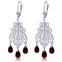 An item in the Jewelry & Watches category: 3.75 Carat 14K Solid White Gold Pathways Garnet Earrings