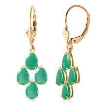 4.5 Carat 14K Solid Gold Evergreen Emerald Earrings - $378.23