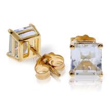 1.75 Carat 14K Solid Gold I Saw The Horizon Aquamarine Earrings - $172.95