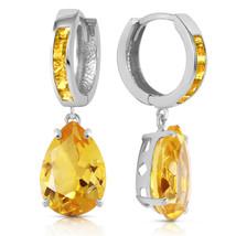 13.2 Carat 14K Solid White Gold Loving Touch Citrine Earrings - $411.11