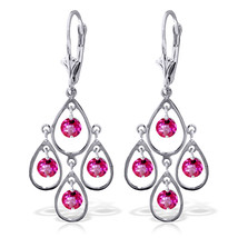 2.4 Carat 14K Solid White Gold You Seduced Me Pink Topaz Earrings - $333.00