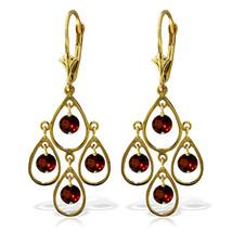 2.4 Carat 14K Solid Gold Pleasure Garnet Earrings - $324.57