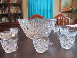 Anchor Hocking Arlington Design Punch Bowl Set ... - $34.99