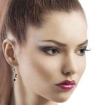 0.8 CTW 14K Solid White Gold Butterfly Earrings Garnet - $231.35