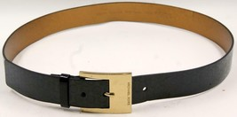 Michael Kors Women's Black Patent Signature Logo Belt Sz Xlarge - $47.49