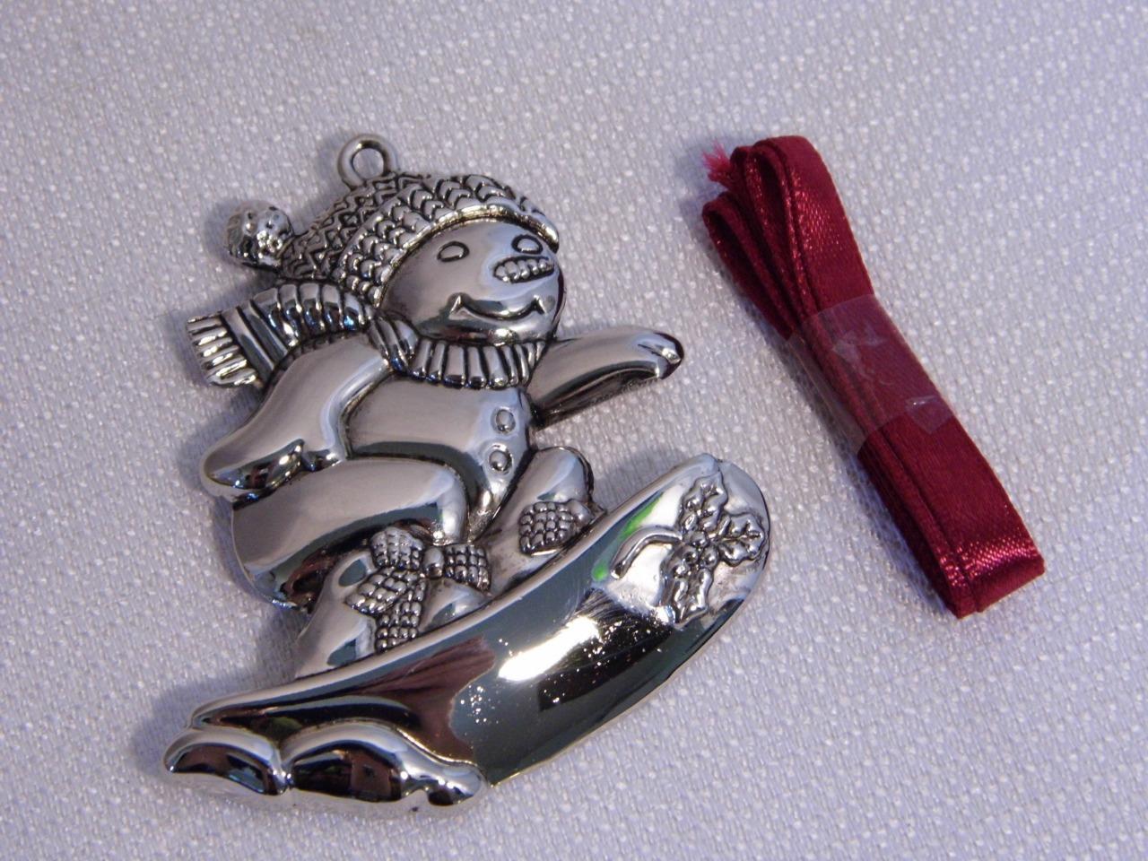 Vintage gorham crystal silver metal holiday christmas