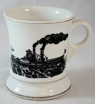 Vintage Moustache Mug - Shaving Mug - Paddle Wheel Steamboat - $24.26