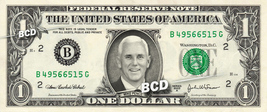 MIKE PENCE on REAL Dollar Bill Cash Money Collectible Memorabilia Celebrity Bank - $5.55
