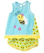 Girls size 3T Rare Editions Bumble Bee Top and Daisy Print Shorts Set NWT - $34.60