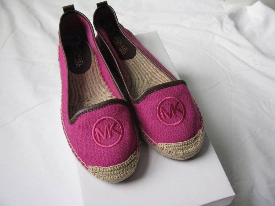 70c0e130986 S l1600. S l1600. Previous. Michael Kors Keli Espadrille Loafers Mocassins  Flats Canvas Hot Pink 6.5 M