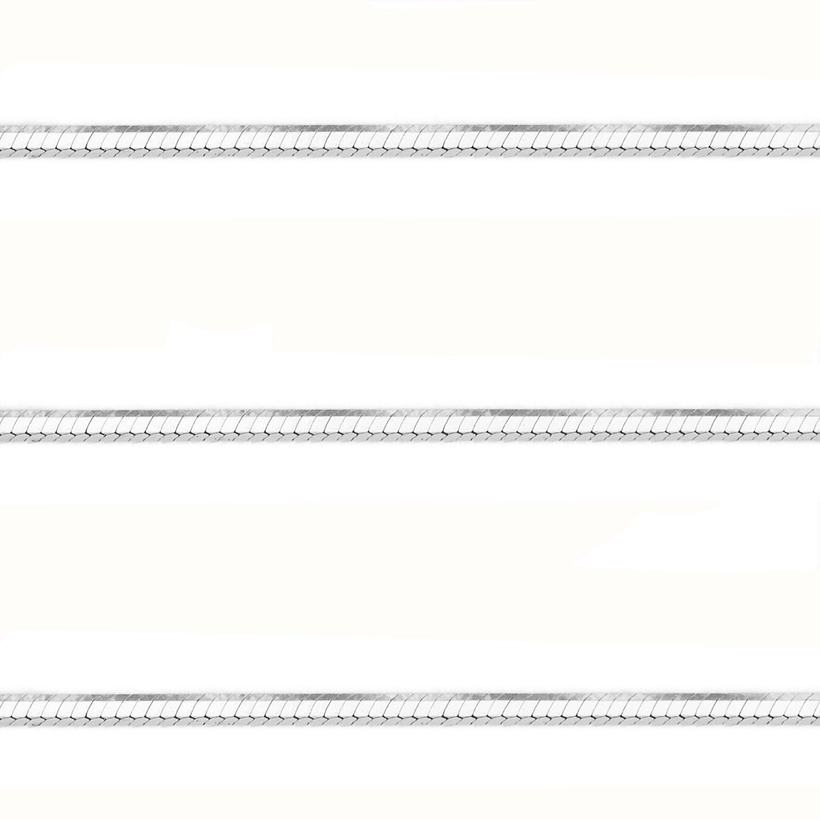 1.1mm Men/Women's Stylish 14K WGP 925 Silver Snake Link Italian Chain Necklace