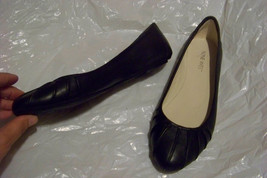 womens nine west blustery black leather slip on... - $20.78