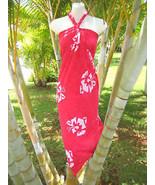 Sarong Pink Hibiscus Hawaiian Luau Coverup Sexy... - $15.88