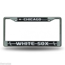 CHICAGO WHITE SOX LOGO MLB BASEBALL GLITTER CHROME LICENSE PLATE FRAME U... - $28.21