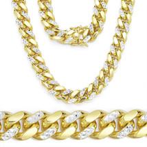 8.6mm Men/Women's Stylish 14K YG Diamond Cut 925 Silver Miami Cuban Chain - $438.38+