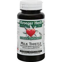 Kroeger Herb Milk Thistle - 90 Vegetarian Capsules - $12.99